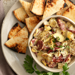 Hickory Sausage and Artichoke Dip