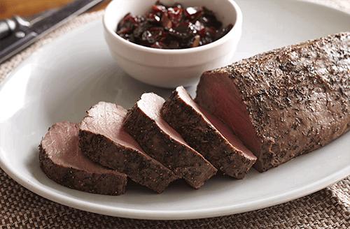 bison-tenderloin-with-cherry-onion-chutney