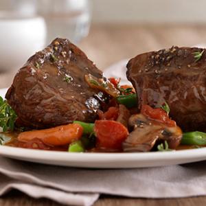 Braised Bison Sirloin Steaks