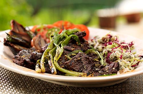 grilled-bison-skirt-steak-with-jalapeno-lime-vinaigrette