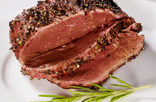 Grilled Herb Bison Tri-Tip Roast