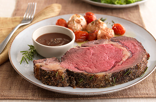 roasted-bison-prime-rib-with-chianti-sauce-cipollini-onions-and-cherry-tomatoes