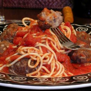 Italian Sauce and Bison Meatballs