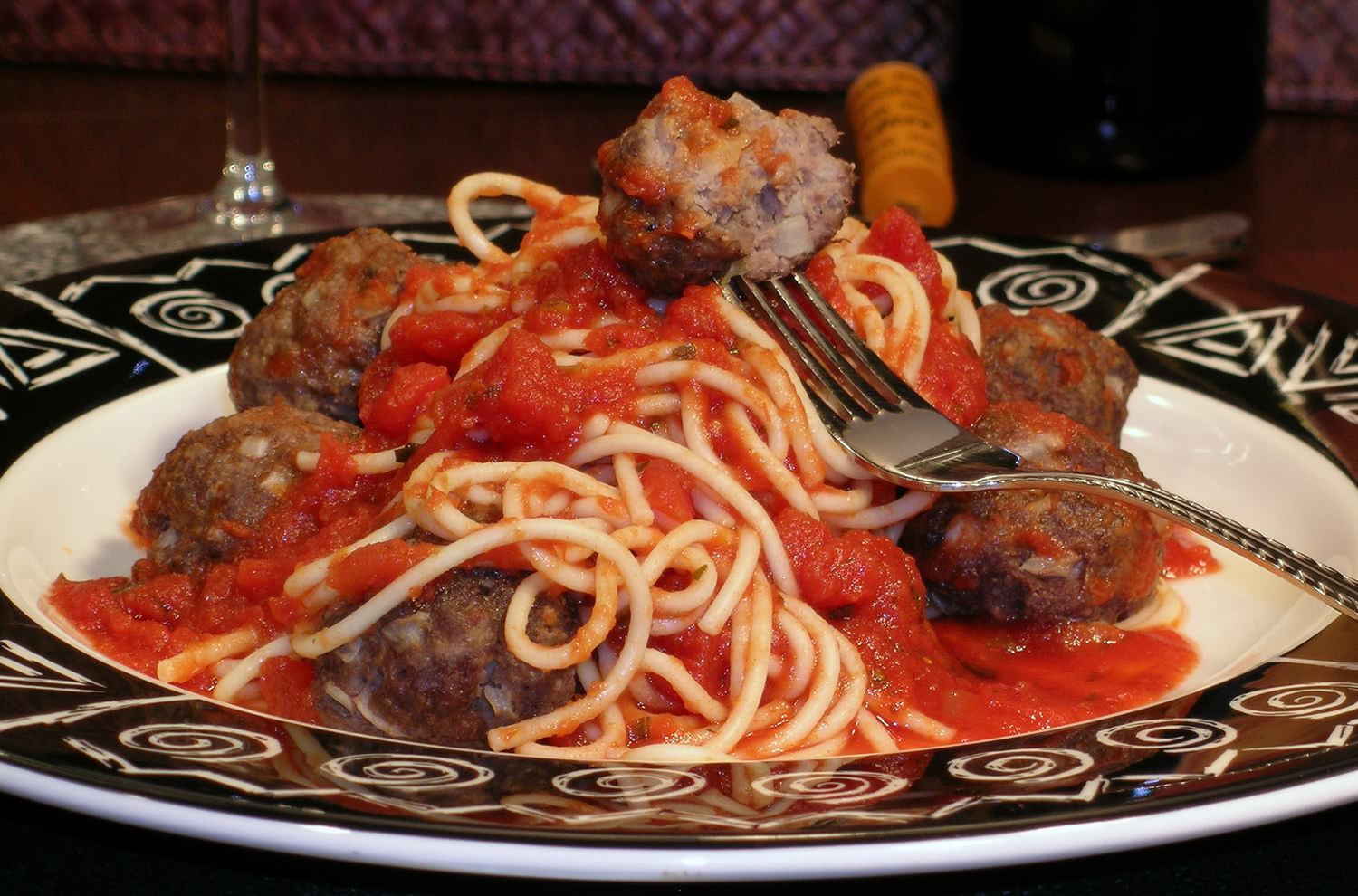 Italian Sauce and Bison Meatballs