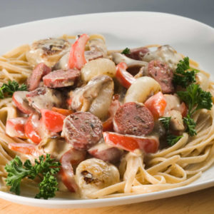 Wild Rice & Asiago Sausage Linguini