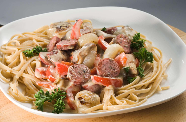 Wild Rice & Asiago Sausage Linguini