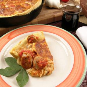 Wild Rice & Asiago Sausage Pizza