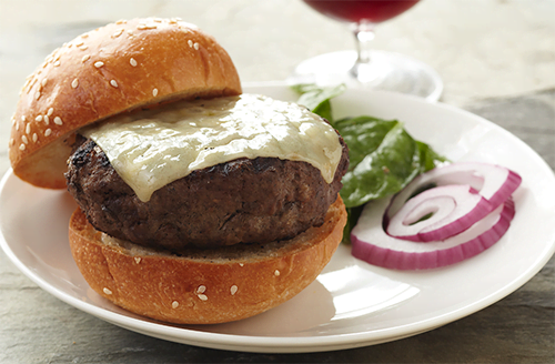 Bison Burgers with Caramelized Figs