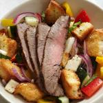 panzanella-salad-with-bison-flank-steak