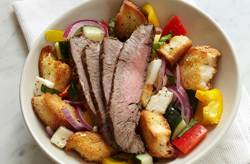 panzanella-salad-with-bison-flank-steak