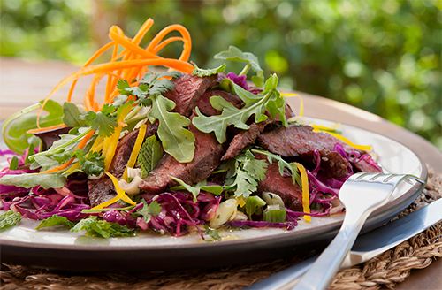 thai-grilled-bison-ny-strip-steak-salad