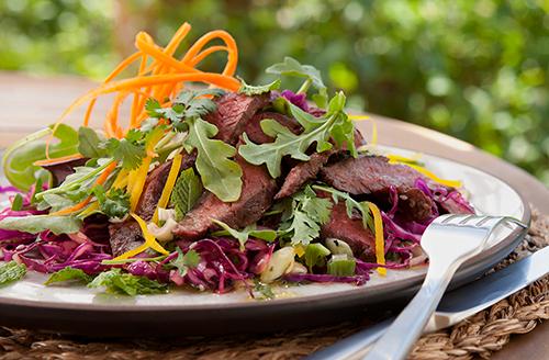 thai-grilled-bison-ny-strip-steak-salad