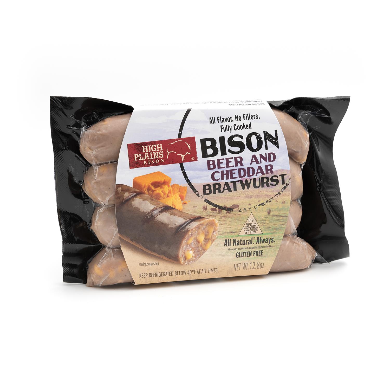 Cheddar & Beer Bison Bratwursts