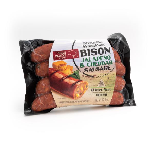 Jalapeño Cheddar Bison Sausages